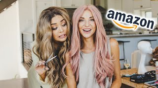 AMAZON WIG HAUL AND MAKEOVER!