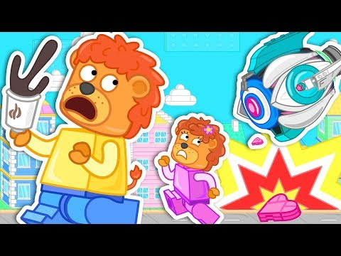 Lion Family Adventure in Lego City Cartoon for Kids thumbnail