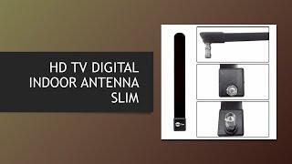HD TV DIGITAL INDOOR ANTENNA SLIM