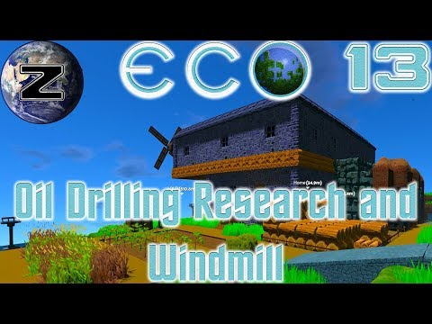Oil Drilling Research and Windmill! - ECO Gameplay 2018 - EP 13