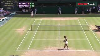 Serena Williams Vs Maria Sharapova Wimbledon 2010 4th Round