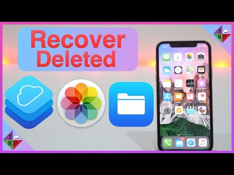 How to recover deleted photos from icloud