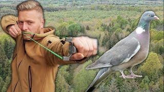 Slingshot Hunting | Bushcraft Cooking