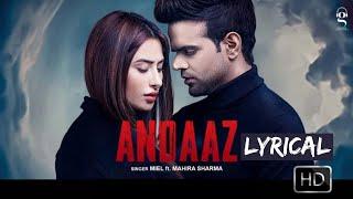 Andaaz (Lyrics)   Miel   Mahira Sharma   Latest Punjabi Songs 2020   New Punjabi Songs   Tgm Filmi