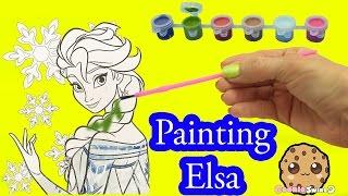Disney Frozen Coloring Paint Set - Painting Queen Elsa Craft Fun Video Cookieswirlc