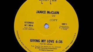 JANICE McCLAIN  -  Giving My Love