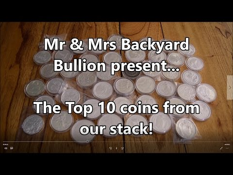 Top 10 Silver Coins from the Backyard Bullion Stack