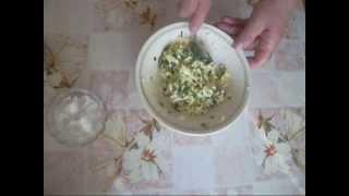 Начинка для пирожков. Лук с яйцом.The filling for patties.Onion with egg