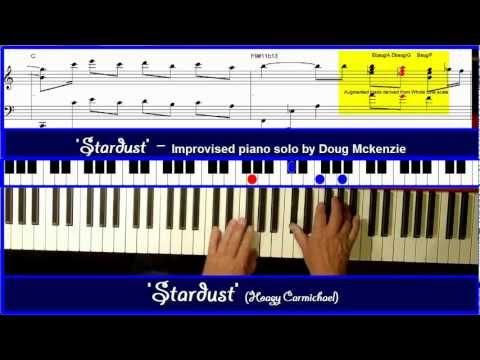 'Star dust' (Hoagy Carmichael) - Solo Jazz piano tutorial