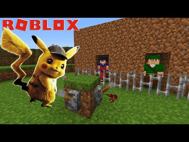 ENTRAMOS NO MUNDO DO POKEMON NO ROBLOX!! (Detetive Pikachu)