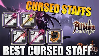 Albion Online - ALL CURSED STAFFS OVERVIEW - Great Cursed, Cursed Skull, Damnation Staff & More! F2P