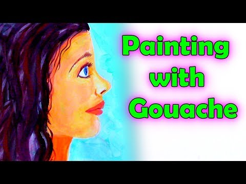 Painting  a Profile Face with Gouache and Acrylics – Free Lesson 🎨