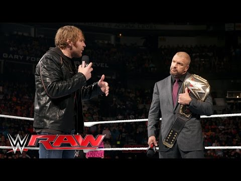 Dean Ambrose interrupts Triple H with a bold challenge: Raw, February 29, 2016