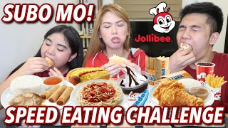 JOLLIBEE SPEED EATING CHALLENGE (ANG LAKI SUMUBO!) | LAFANG IS FUN! Candy Inoue ❤️