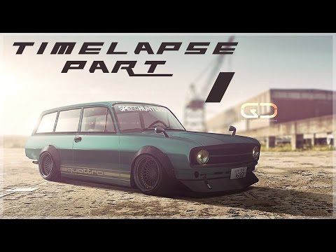 Digital Car Tuning Timelapse By Glacius | Audi F103 | PART 1