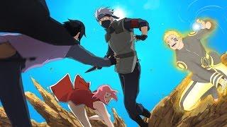 Hokage Naruto, Sasuke & Sakura vs Kakashi - Naruto Shippuden Ultimate Ninja Storm 4 Road to Boruto
