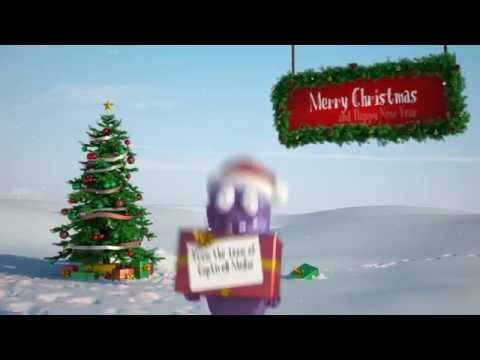 Christmas Card Animation Business Message Video - Funny Bert