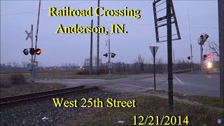 Railroad Crossing: West 25th Street, Anderson, IN. CSX Main Track 2