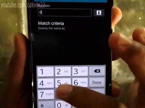 How to Add or Remove Contact from Reject List on Samsung Galaxy S5