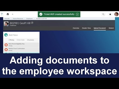 Adding documents to the employee workspace | Extended ECM