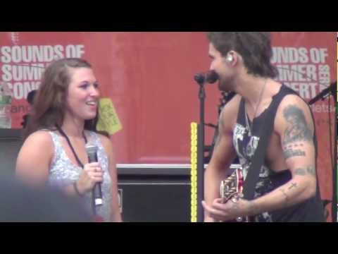 """*Martin Brings FAN On Stage!!* Boys Like Girls: """"Two Is Better Than One"""" 8/11/12"""