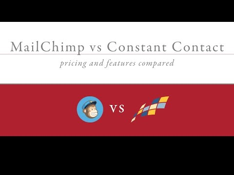 MailChimp vs Constant Contact Pricing & Features