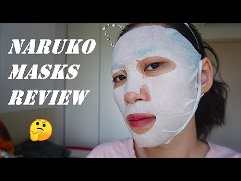 [Eng] Review BST Mặt Nạ NARUKO Đài Loan | Taiwanese NARUKO Mask Collection Review (Try-on)