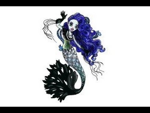 How To Draw Sirena Von Boo From Monster High Freaky Fusion