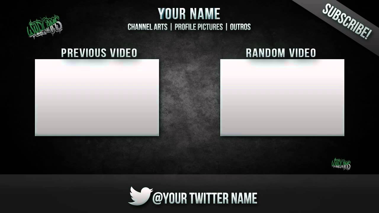 Wildcams Outro Template 1 Youtube