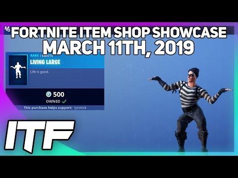 Fortnite Item Shop LIVING LARGE EMOTE IS BACK! [March 11th, 2019] (Fortnite Battle Royale) thumbnail