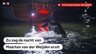 Samenvatting eerste nacht Elfstedenzwemtocht Maarten van der Weijden