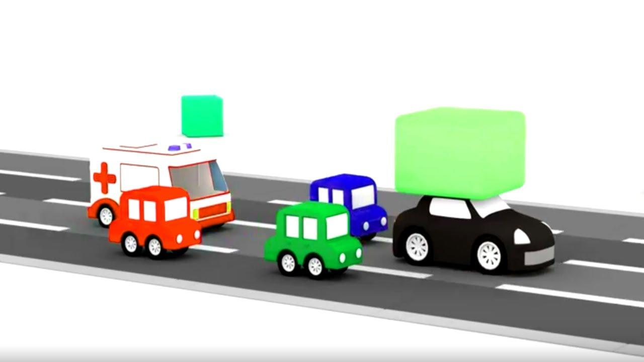 Lehrreicher Zeichentrickfilm Die 4 Kleinen Autos Die