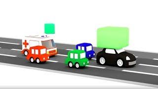 Lehrreicher Zeichentrickfilm - Die 4 kleinen Autos - Die Verfolgungsjagd