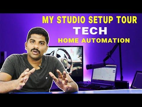 புதிய Tech Studio Setup Tour & Home Automation in Tamil - Loud Oli Tech