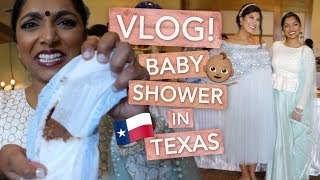 TEXAS VLOG! Family Baby Shower | Deepica Mutyala