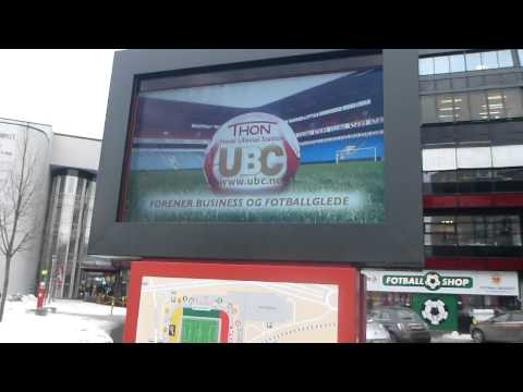 Outside the Football Stadium in Oslo   Norway   February 2015