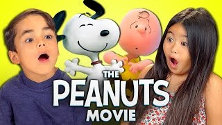 KIDS REACT TO THE PEANUTS MOVIE (Snoopy and Charlie Brown!)