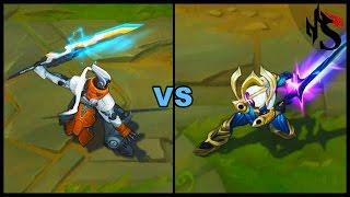 PROJECT: Yi vs Cosmic Blade Master Yi Legendary vs Epic Skins Comparison (League of Legends)