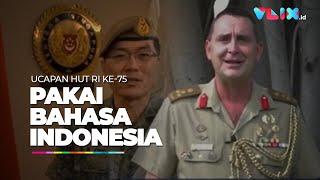 Tentara Australia & SIngapura Pakai Bahasa Indonesia Beri Ucapan HUT Ke-75 RI