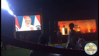 Prime Minister's massage  on International Day of yoga  Dubai  2018
