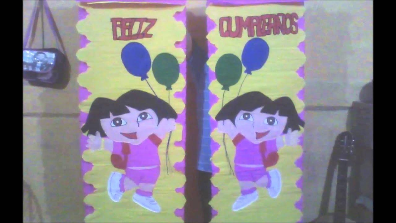 Las mejores cortinas de papel crepe youtube for Decoracion 10 de mayo