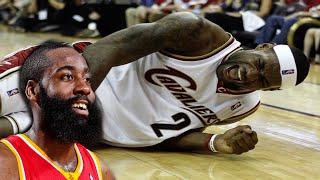 James Harden kicks LeBron --- dirty kick low blow rockets fight 3.1.15 3/1/2015