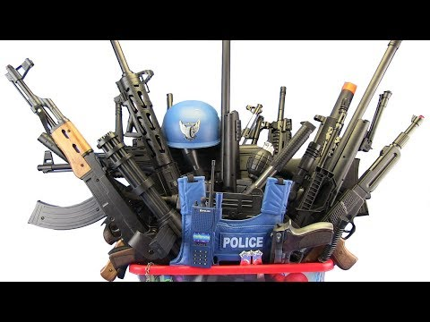 BOX OF TOYS ! GunsToys Police & Military  - Video For Kids / What's in the BOX !?