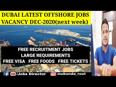 Latest Offshore jobs dubai || International shipping & Marine job vacancy.