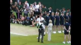 Crowd view of Andy Murray's emotional speech after the Wimbledon final 2012