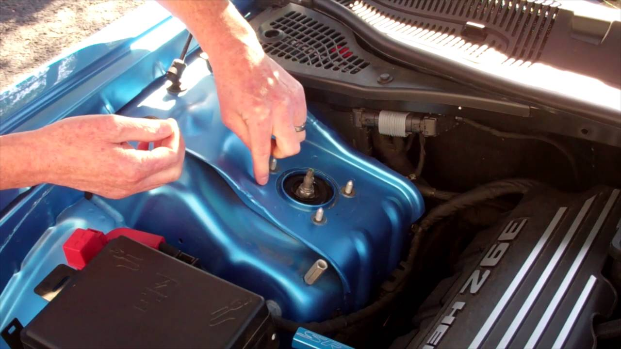 small resolution of challenger strut tower cover install