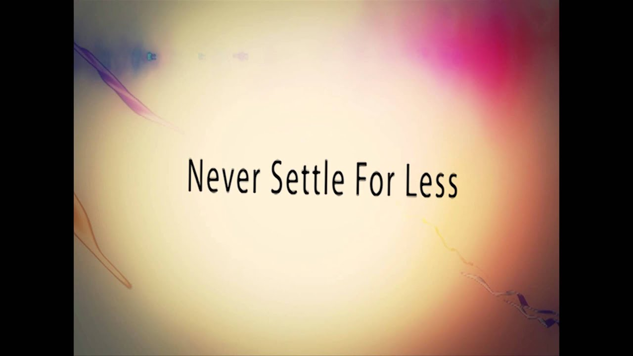 Never settle coupon