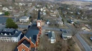 Orbit around Saint Mary's Catholic Church in Glasgow Missouri