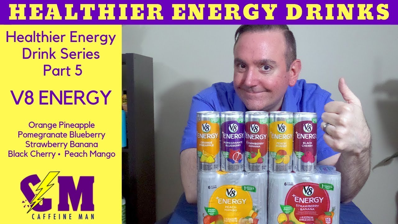 V8 Energy Review >> V8 Energy Drink Product Review Healthy Energy Drink Series Youtube