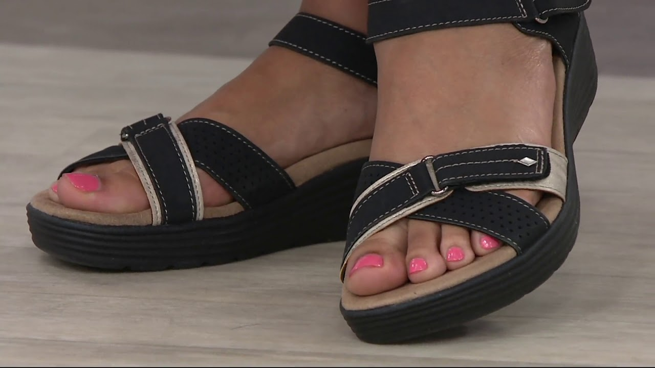b55e493a656 Earth Origins Adjustable Multi Strap Sandals - Gaven on QVC - YouTube